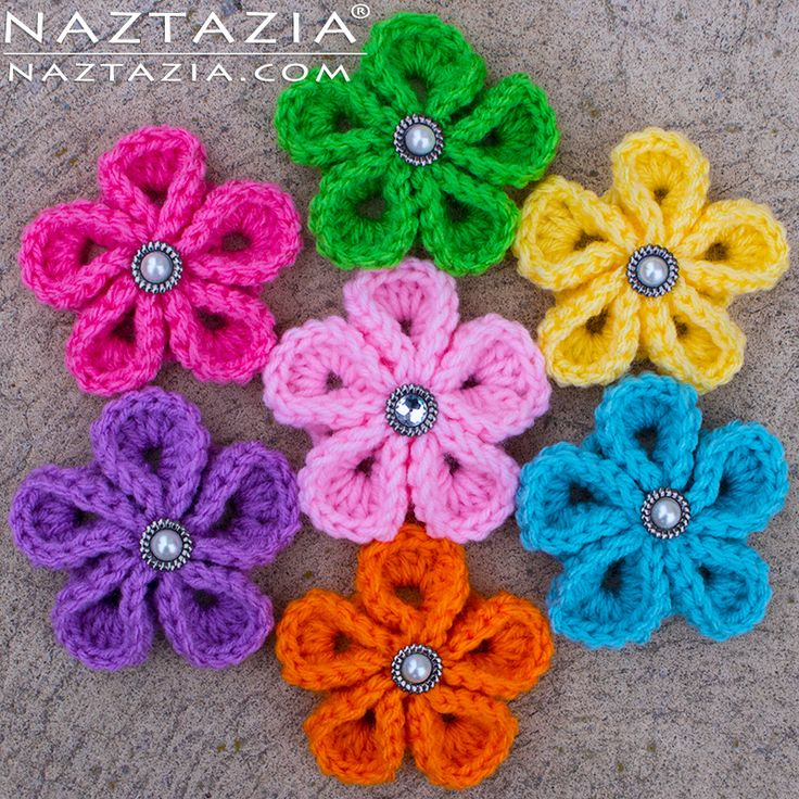 flower crochet pattern diy free pattern and youtube tutorial for crochet kanzashi flower -  japanese flowers - LOOCCGC