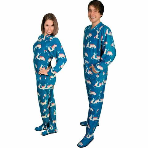 footie pajamas for adults with butt flap italian scooter fleece LJXSEMX