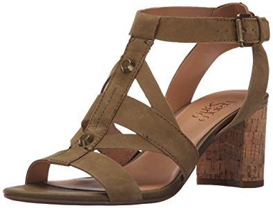 franco sarto shoes franco sarto womenu0027s l-paloma dress sandal, olive, ... ZJPPKVK