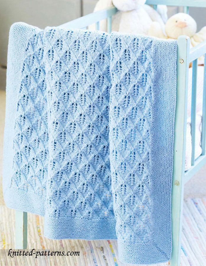 free baby blanket knitting patterns cot blanket knitting pattern ...