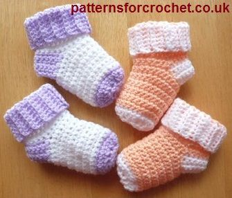 free baby crochet patterns free baby sock crochet pattern from http://www.patternsforcrochet.co. RXUEJOT