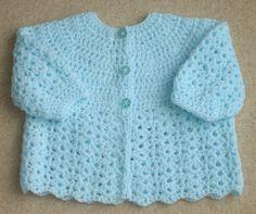 free crochet baby sweater patterns | crochet matinee jacket | crochet for  beginners | IXMHVWA