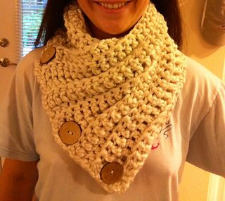 free crochet cowl patterns 3 button crochet cowl pattern by maria mcclung KWGRFVR