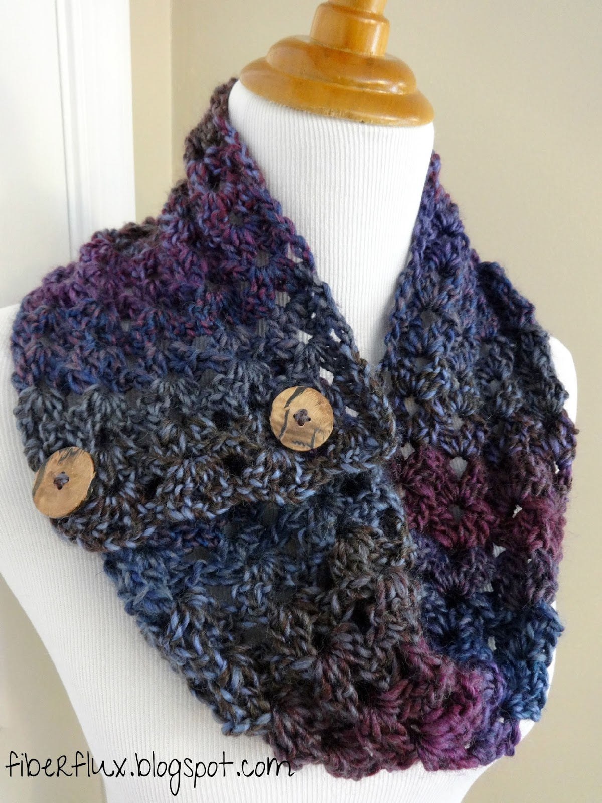 free crochet cowl patterns easy double crochet cowl from katieu0027s crochet goodies and crafts KVJRGVZ