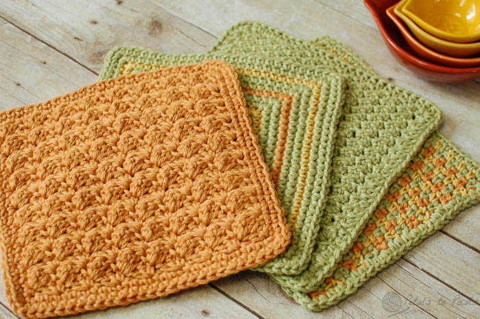 Free Crochet Dishcloth Patterns For Easy Crocheting Fashionarrow