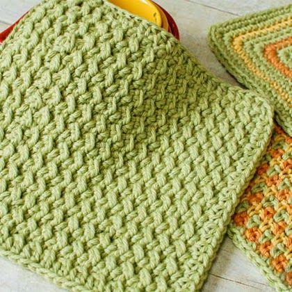 free crochet dishcloth patterns crunchy stitch crochet dishcloth pattern TJIFBQB