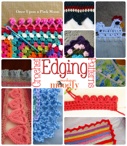 free #crochet edging patterns - great for blankets, napkins, towels,  tablecloths, XLFUQVV