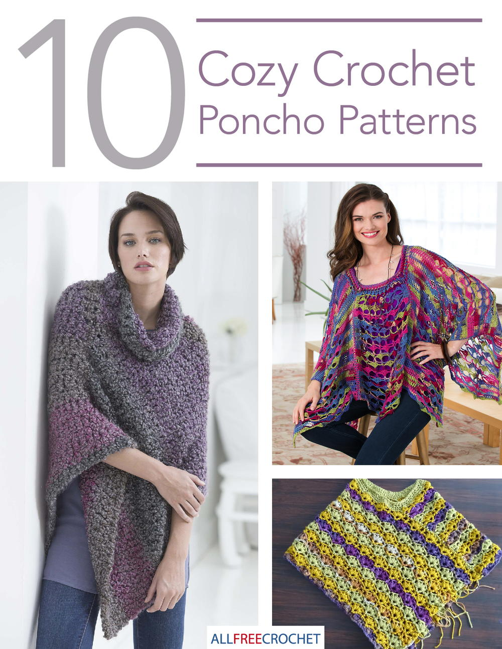 The best of free crochet poncho patterns that you can easily create ...