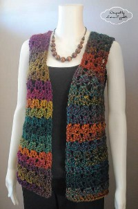 free crochet vest patterns YFGJNIV