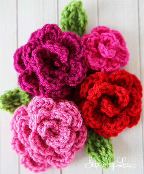 free easy crochet rose pattern PQASUOP