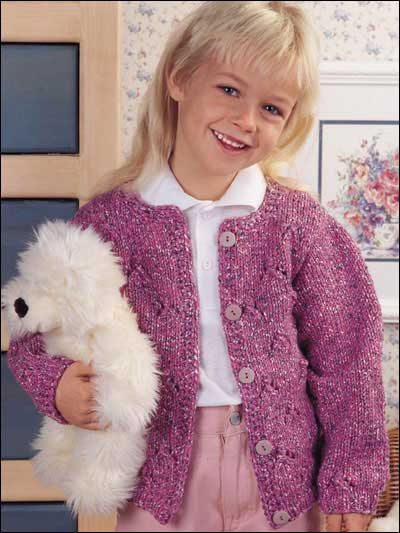 Free Knitting Patterns For Children Budding Beauty Kids Cardigan