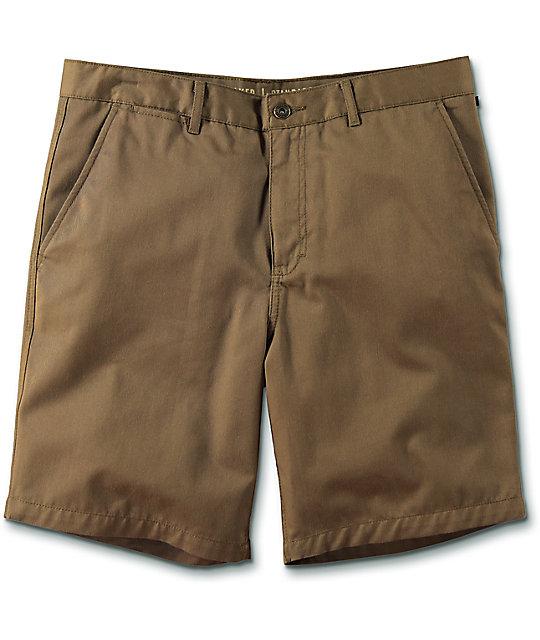 free world walker dark khaki chino shorts AYBSGDT