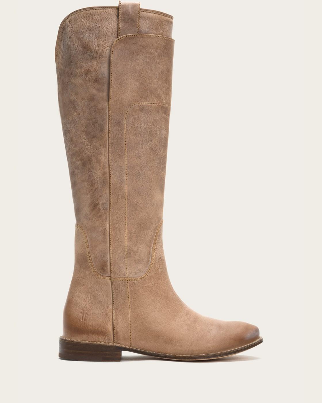 fry boots frye   paige tall riding - grey VRQLGOH