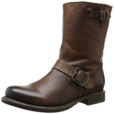 fry boots frye womenu0027s jenna engineer boot, cognac – brush off … XRUBWTT