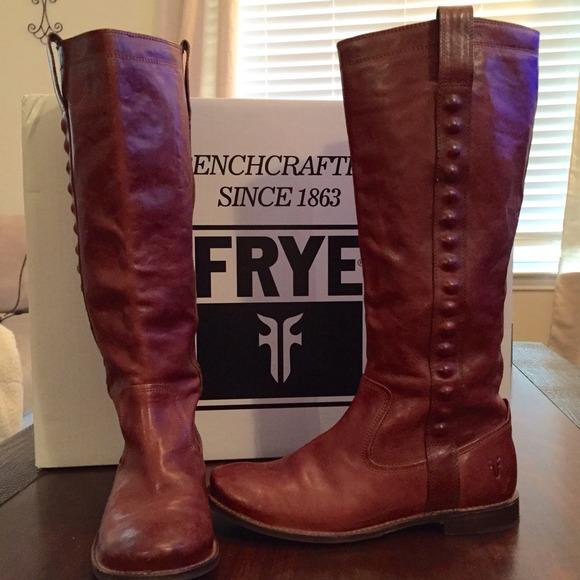 fry boots frye womenu0027s paige stud boot – whiskey ZKROTPS