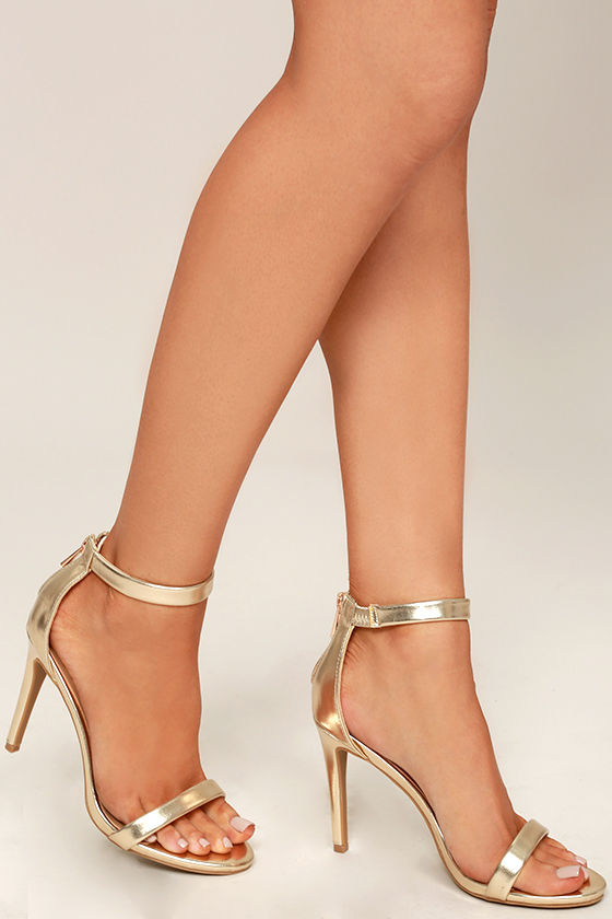 gold heels search the stars gold ankle strap heels 1 HCJXBMO