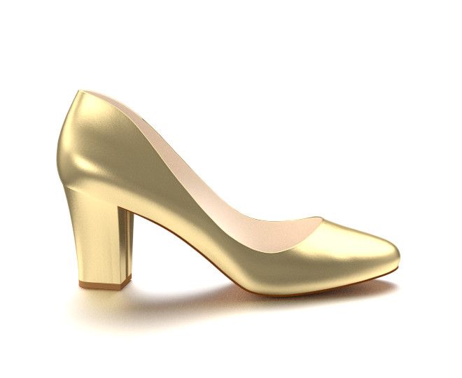 Make a fashion statement with gold high heels ...
