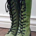 The trend of green boots: