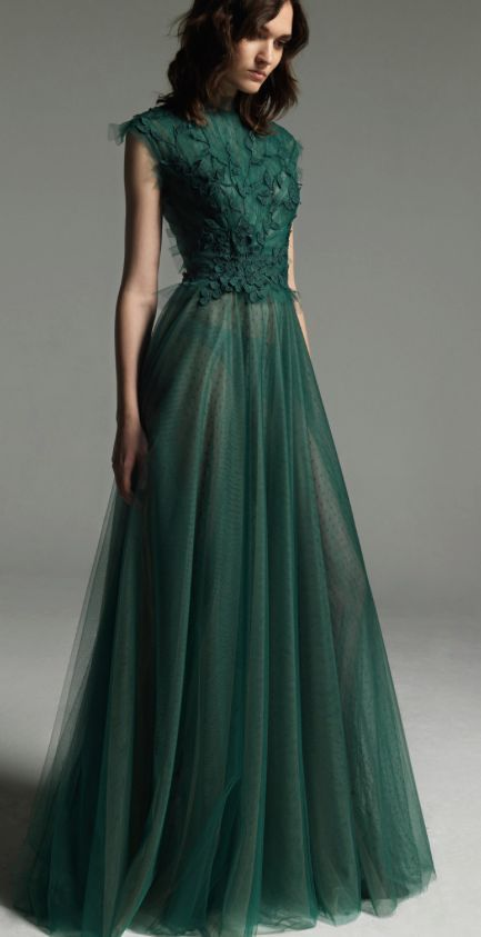 green dress dress inspiration - christos costarellos XALOJTU