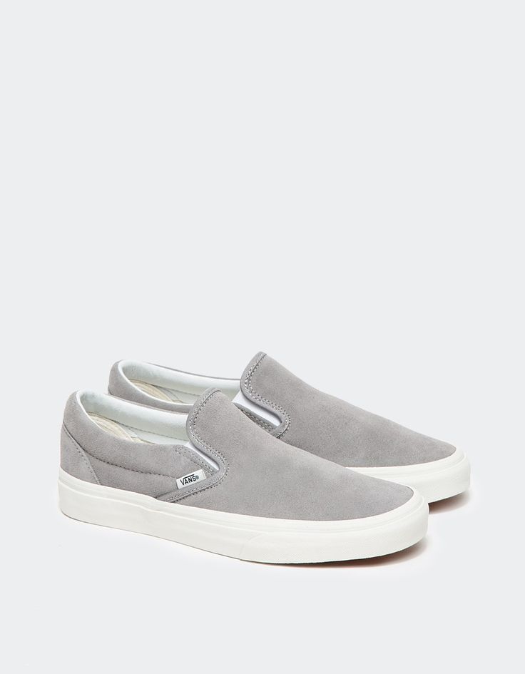 grey shoes womenu0027s gray classic slip-on in frost grey XQWCVIH