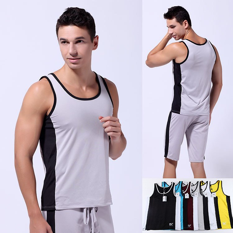 gym wear for men aliexpress.com : buy high quality soft mens tank top tee quick dry  patchwork male IJUUSCV