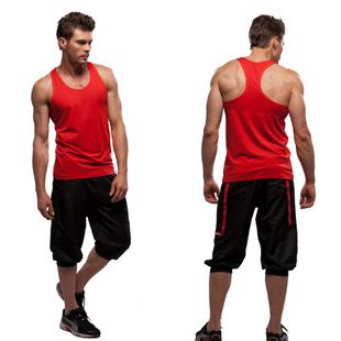gym wear for men free shipping 2013 new fashion menu0027s workout clothes vest pant 2 pcs  aerobics set TPLXFPS