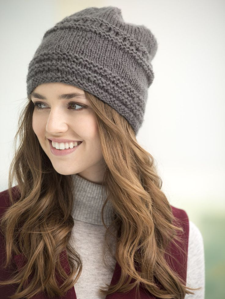 Hat Knitting Patterns Will Help You To Knit A Stylish Hat For Cool Simple Knit Hat Pattern