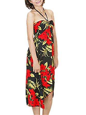 hawaiian dress-black w red- s VALVJMY