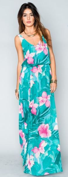 hawaiian dress hawaiian print maxi dresses PIIKXAC