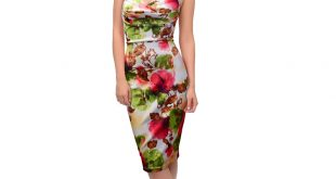 hawaiian dress women sexy halter neck sleeveless open back ruched floral vintage  sweetheart slim wiggle bodycon UBXHGPW