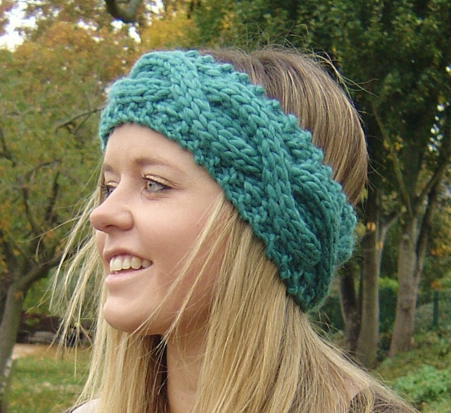 Headband Knitting Pattern Cool Chunky Knit Headband Pattern Knitting