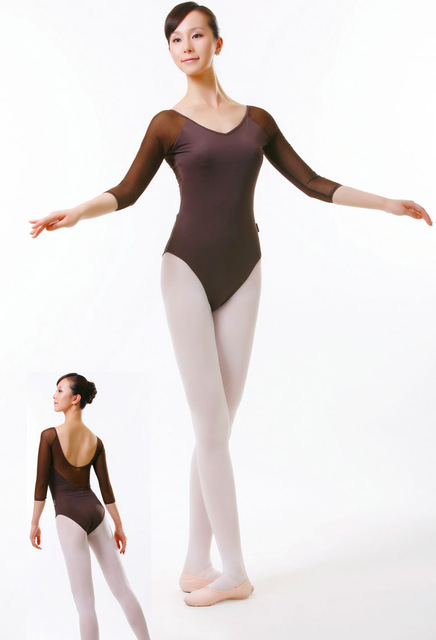 high quality adult ballet clothes long- sleeve siamese clothes / leotard / dance  clothes PKEASVE