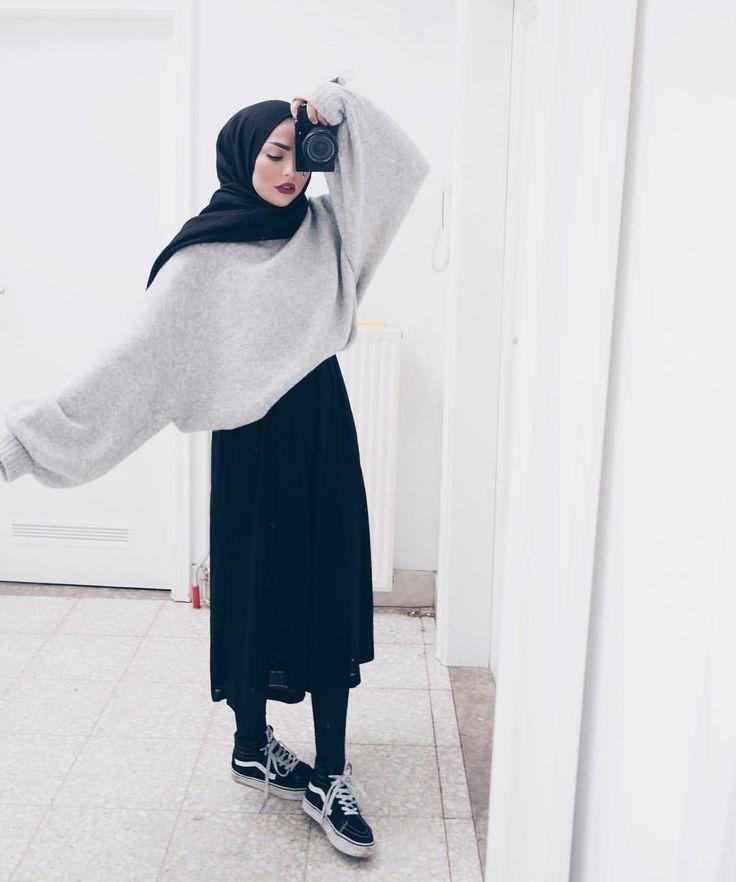 hijab fashion @sauf.etc on instagram- hijab style inspiration casual OKLDJAS