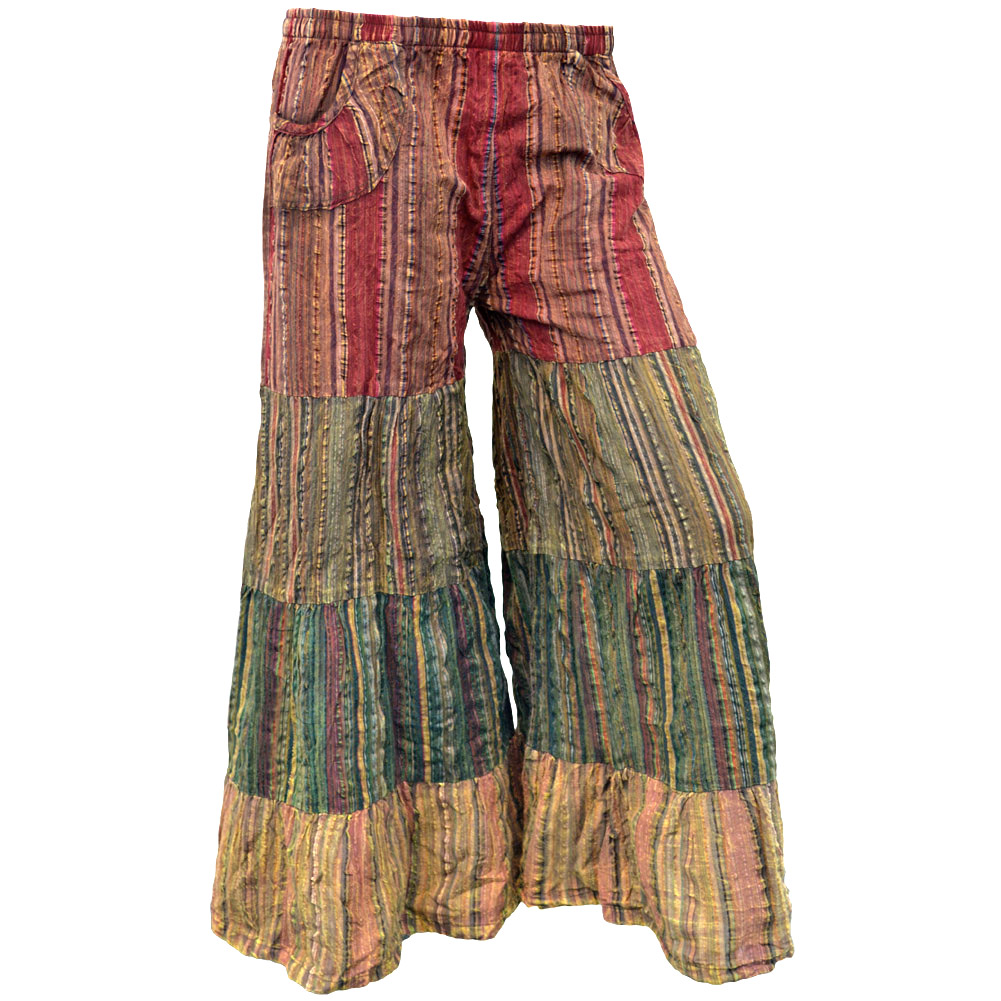 hippie pants lunar bay over dyed seersucker pants FWLXDUJ