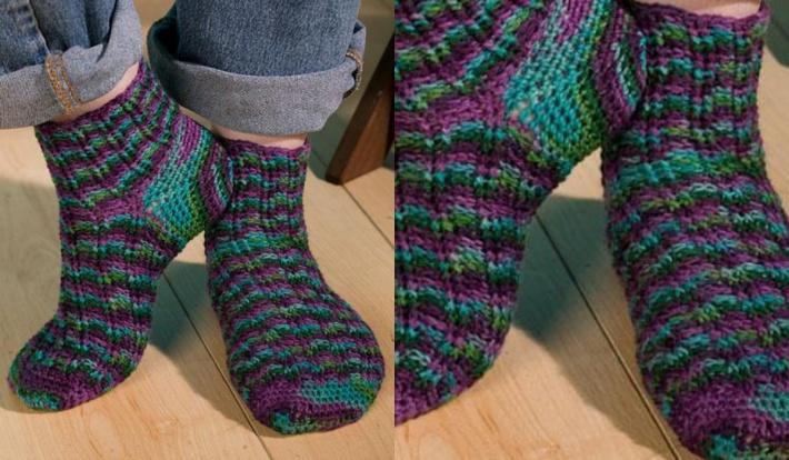 how to crochet socks fantasy fairisle TGCDMTI