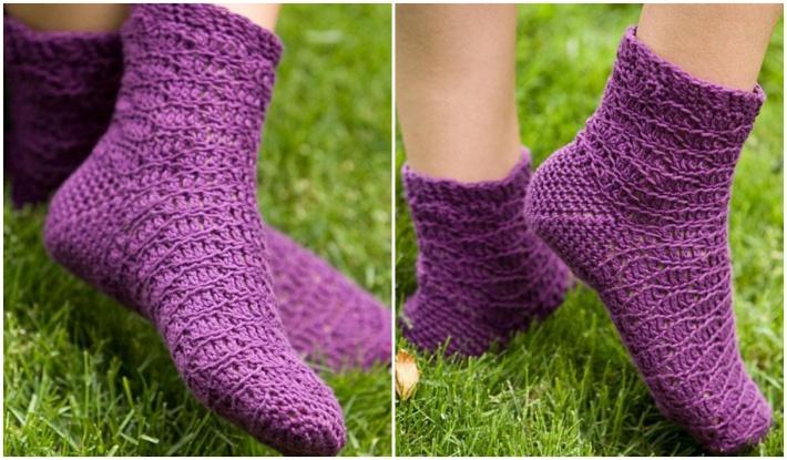 how to crochet socks indigo dreams socks RQSEPQY