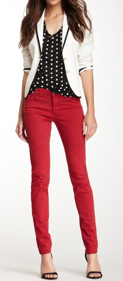 how to wear red jeans JOUQJCM