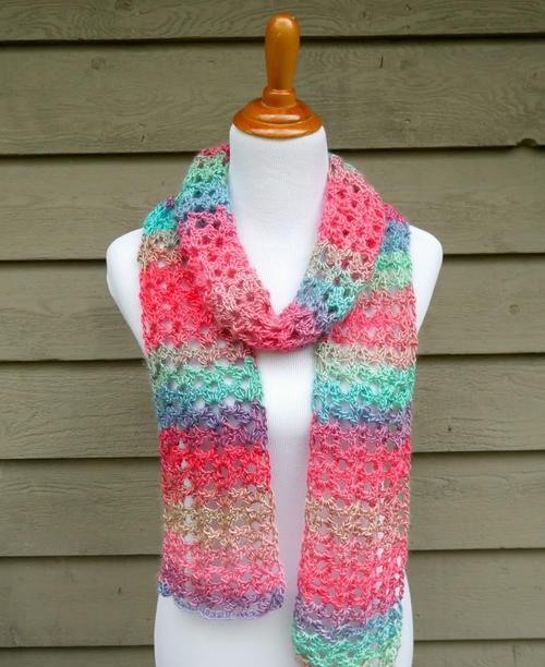 island lace crochet scarf KUPVMEN