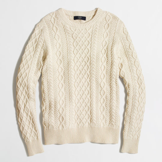 j. crew fisherman cable knit sweater BYUYARH