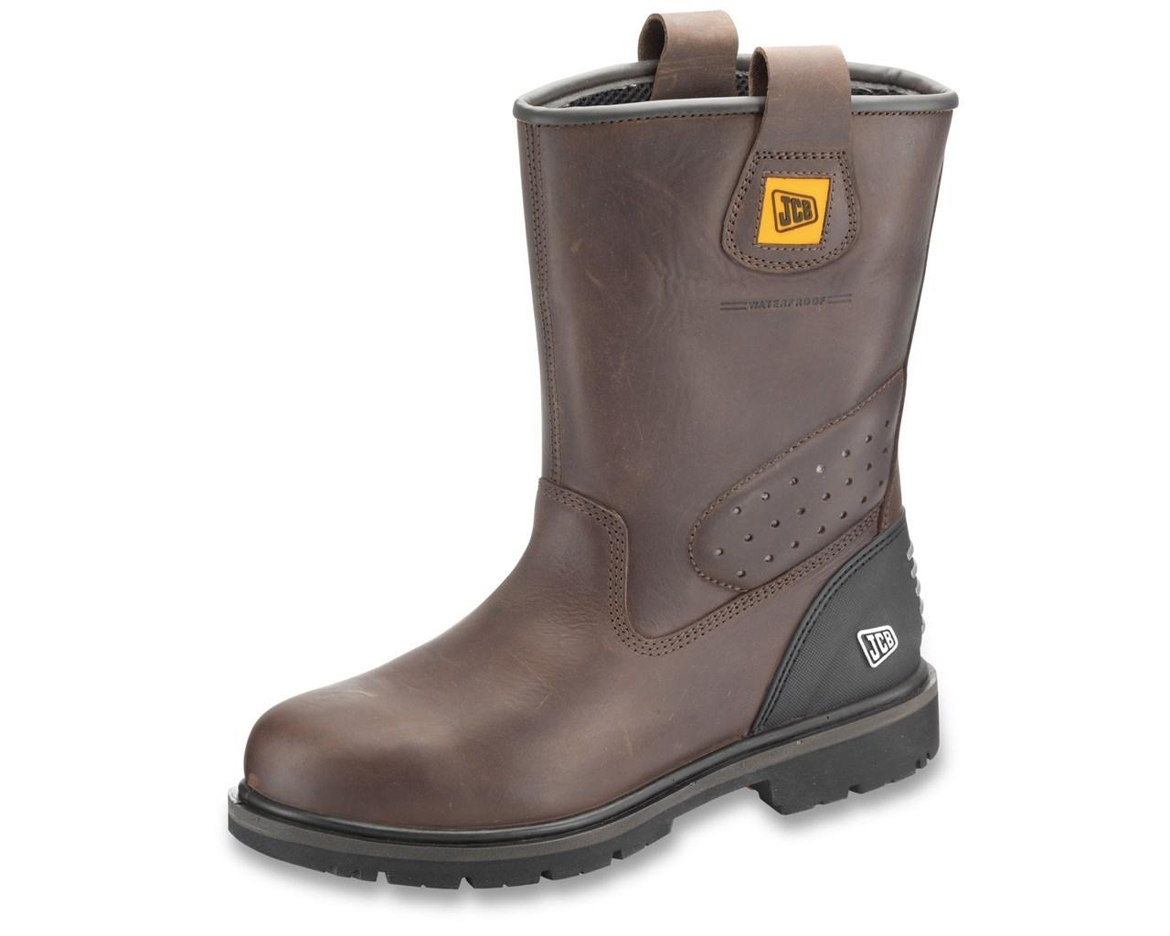 jcb trackpro safety rigger boots in black jcb trackpro AHLJXDN