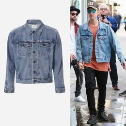 jean jackets for men mens jackets and coats justin bieber denim jacket men brand clothing blue jean  jacket LUZZOXS