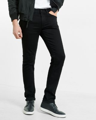 jeans for men skinny black stretch+ jeans | express YCGQBVI