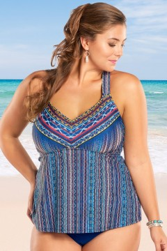 jessica simpson dusty road plus size tankini top-179413-blue AJENNQV
