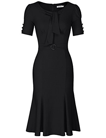 juese womenu0027s 50s 60s formal or casual party pencil dress (s, black) PIVCOEK