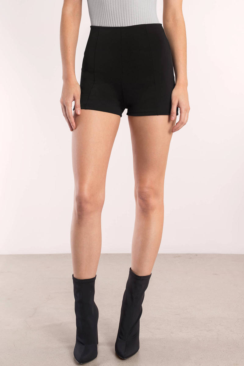 Set the trend with black high waisted shorts