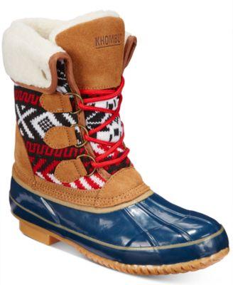 khombu boots khombu womenu0027s jenna lace-up cold weather booties MQPDNSY