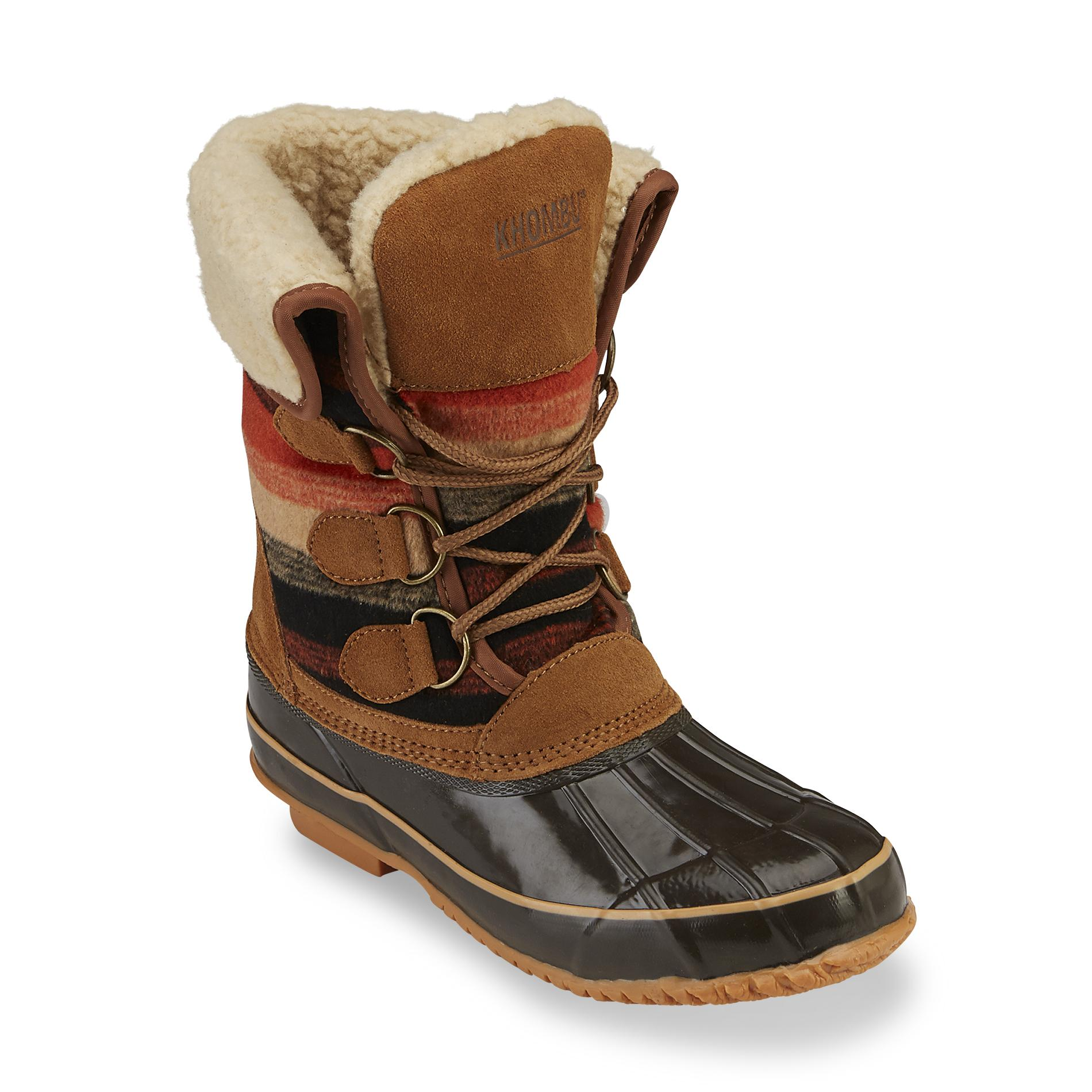 khombu boots khombu womenu0027s jilly brown/multicolor waterproof winter boot DGOKUHK