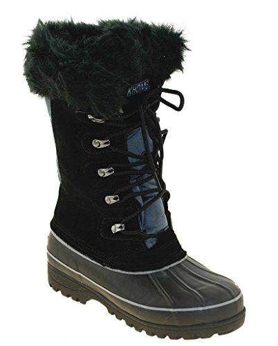 khombu boots khombu womenu0027s nordic boot, black, ... QAOCGTP