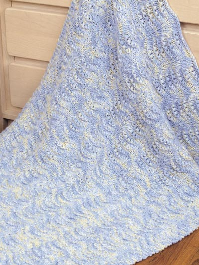 knit baby blanket easy shells baby blanket KAIKARL
