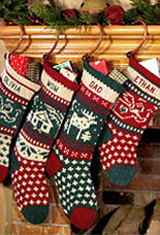 knit christmas stockings for the family: classic knitted · personalized pet christmas stockings TURBNWU